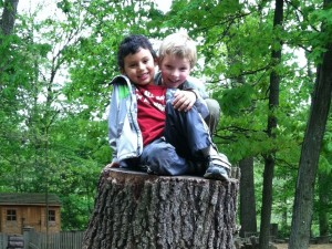 Children at play at Acorn Hill